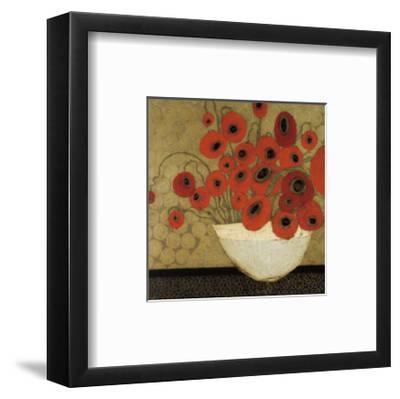 Frida's Poppies-Karen Tusinski-Framed Art Print