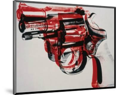 Gun, c.1981-82 (black and red on white)-Andy Warhol-Mounted Giclee Print