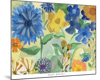 Blue Flowers-Gayle Kabaker-Mounted Art Print