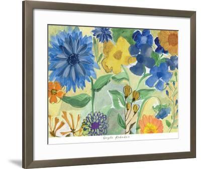 Blue Flowers-Gayle Kabaker-Framed Art Print
