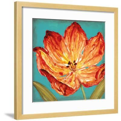 Flame Tulip II-Karen Leibrick-Framed Art Print
