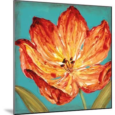 Flame Tulip II-Karen Leibrick-Mounted Art Print