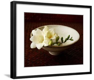Freesia and Bowl-Florence Rouquette-Framed Art Print