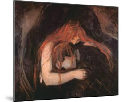 The Vampire-Edvard Munch-Mounted Art Print