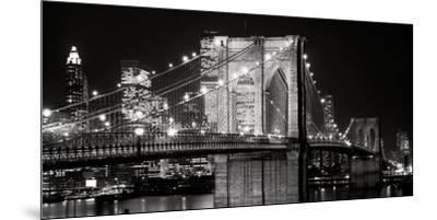 Brooklyn Bridge at Night-Jet Lowe-Mounted Art Print