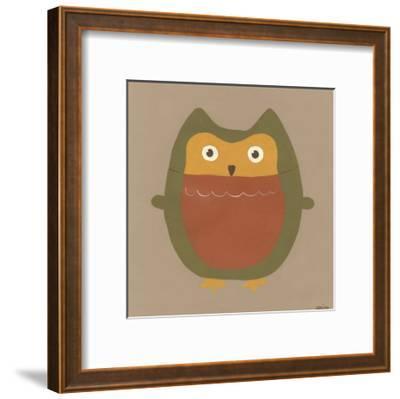 Earth-Tone Owls II-Erica J^ Vess-Framed Art Print