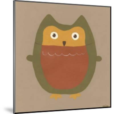 Earth-Tone Owls II-Erica J^ Vess-Mounted Art Print