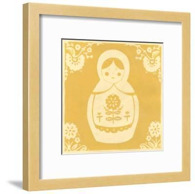 Russian Doll in Yellow-Erica J^ Vess-Framed Art Print