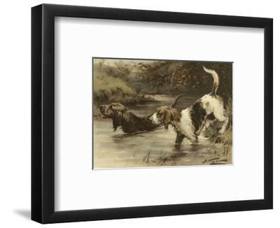 The Home of the Otter-George Wright-Framed Art Print