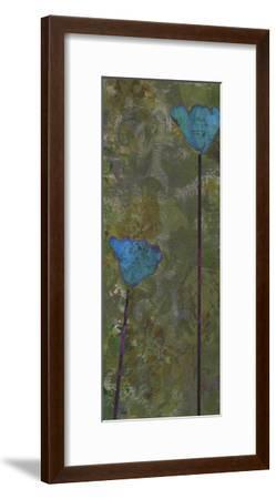 Teal Poppies IV-Ricki Mountain-Framed Art Print