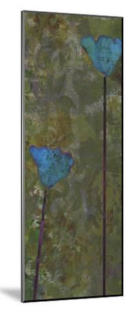 Teal Poppies IV-Ricki Mountain-Mounted Art Print