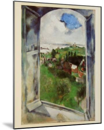 Window with View on the Island Bréhat, c.1924-Marc Chagall-Mounted Art Print