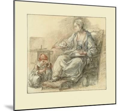 Lady Writing-Francois Gu?rin-Mounted Collectable Print