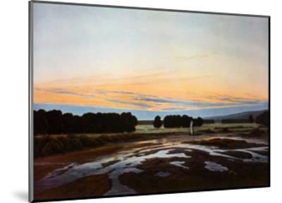 The large Enclosure at Dresden-Caspar David Friedrich-Mounted Collectable Print