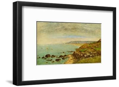 The Seine Bay near Bénerville-Eug?ne Boudin-Framed Art Print
