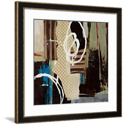Abstract Collage IV-Bridges-Framed Art Print