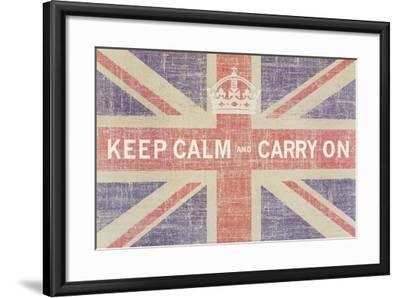 Keep Calm and Carry On (Union Jack)-Ben James-Framed Art Print