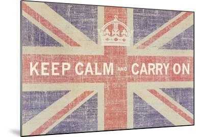 Keep Calm and Carry On (Union Jack)-Ben James-Mounted Art Print