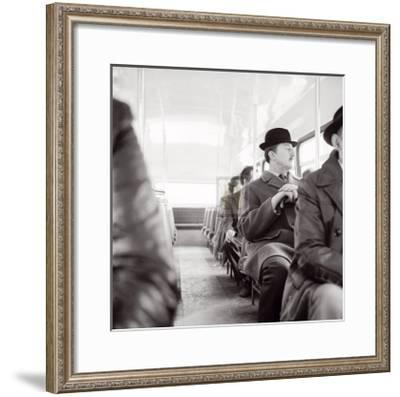 City Gent on the Top Deck of a Bus-Henry Grant-Framed Art Print