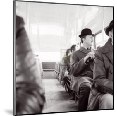 City Gent on the Top Deck of a Bus-Henry Grant-Mounted Art Print