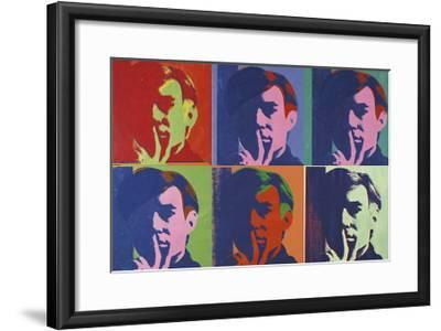 A Set of Six Self-Portraits, c.1967-Andy Warhol-Framed Giclee Print