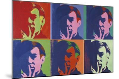A Set of Six Self-Portraits, c.1967-Andy Warhol-Mounted Giclee Print