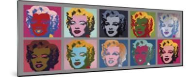 Ten Marilyns, c.1967-Andy Warhol-Mounted Giclee Print