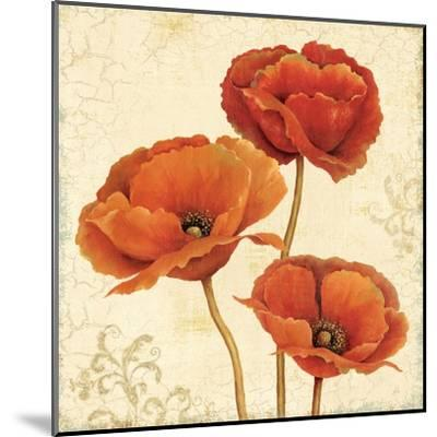 Poppy Bouquet II-Daphne Brissonnet-Mounted Art Print