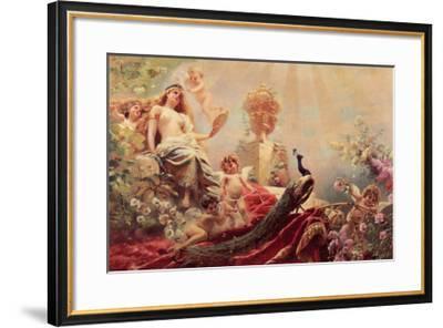 The Toilet of Venus-Constantin Makowsky-Framed Art Print
