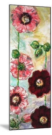Roses Trémières II-Mette Galatius-Mounted Art Print