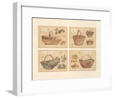 4 Paniers (Vendange)-Laurence David-Framed Art Print