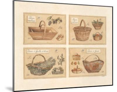 4 Paniers (Vendange)-Laurence David-Mounted Art Print