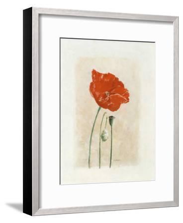 Coquelicot I-Laurence David-Framed Art Print