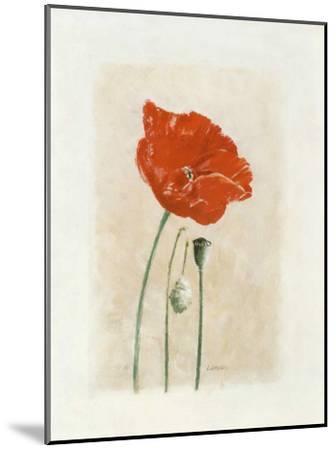 Coquelicot I-Laurence David-Mounted Art Print