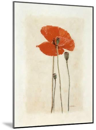 Coquelicot IV-Laurence David-Mounted Art Print
