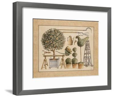 L'Art de Former les Topiaires, l'Oranger-Laurence David-Framed Art Print