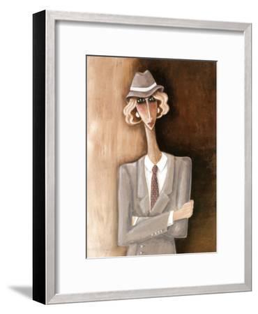 Femme Blonde-V?ronique Didier-Laurent-Framed Art Print