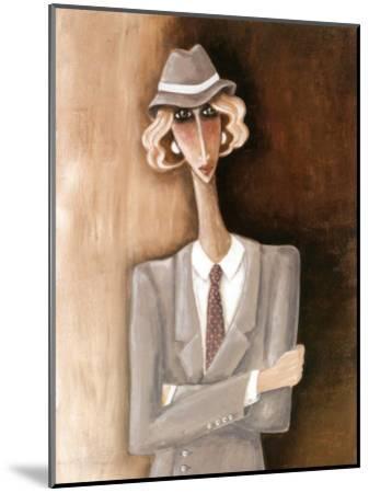 Femme Blonde-V?ronique Didier-Laurent-Mounted Art Print