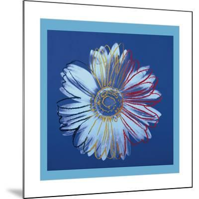 Daisy, c.1982 (Blue on Blue)-Andy Warhol-Mounted Giclee Print