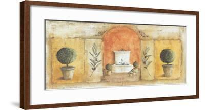 La Fontaine Rouge-V?ronique Didier-Laurent-Framed Art Print