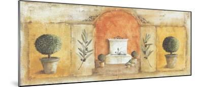 La Fontaine Rouge-V?ronique Didier-Laurent-Mounted Art Print