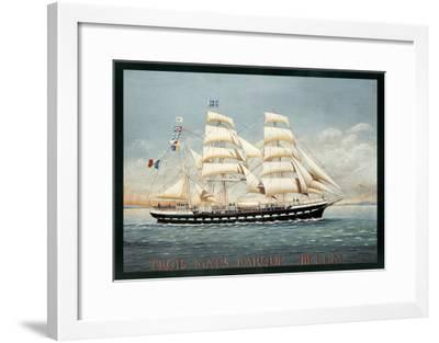 Trois Mats Barque Belem-Dominique Perotin-Framed Art Print