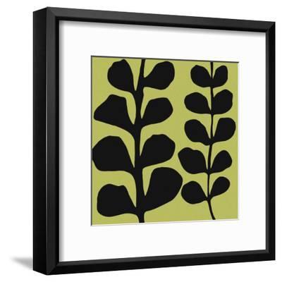 Black Fern on Green-Denise Duplock-Framed Art Print
