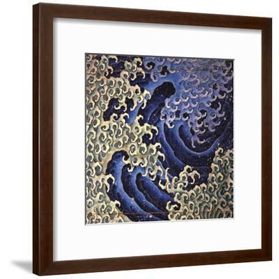 Masculine Wave (detail)-Katsushika Hokusai-Framed Art Print