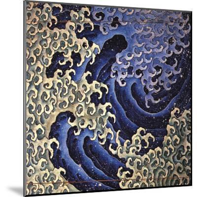 Masculine Wave (detail)-Katsushika Hokusai-Mounted Art Print