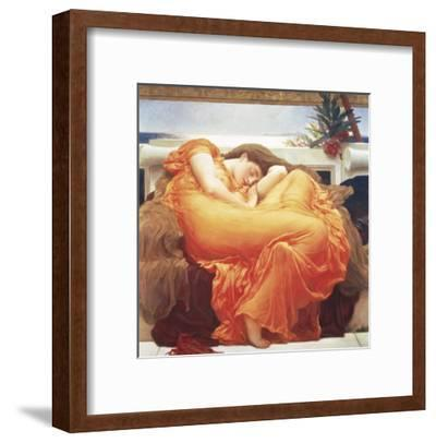 Flaming June-Frederick Leighton-Framed Art Print