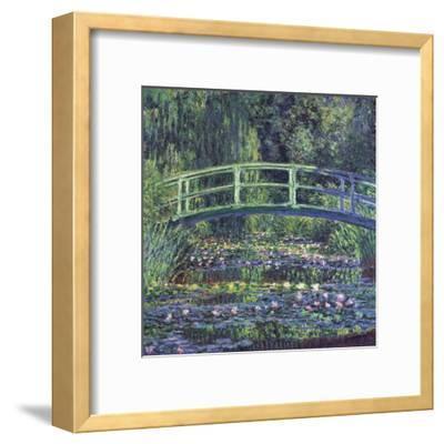 Water Lily Pond, c.1899 (blue)-Claude Monet-Framed Art Print