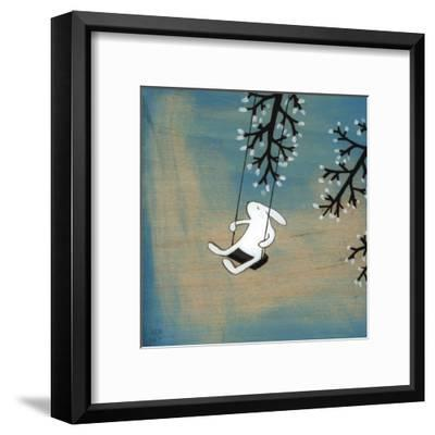 Follow Your Heart- Swinging Quietly-Kristiana P?rn-Framed Art Print
