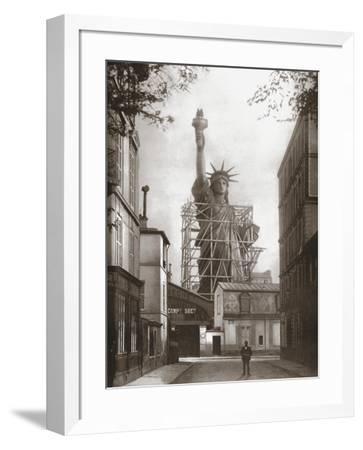 Statue Of Liberty In Paris C1886 Art Print By Artcom