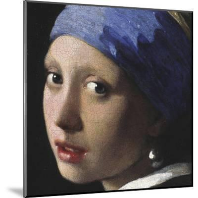 Girl with a Pearl Earring (detail)-Johannes Vermeer-Mounted Art Print
